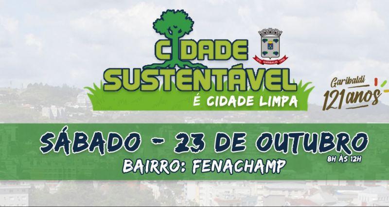 Foto de capa da notícia Bairro Fenachamp recebe equipes do Projeto Cidade Sustentável é Cidade Limpa