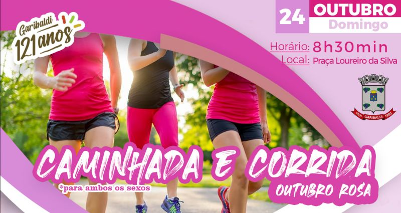 Foto de capa da notícia Outubro Rosa – Caminhada e Corrida ocorre neste domingo